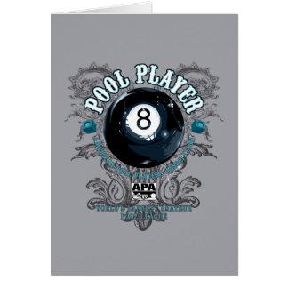 Pool Player Filigree 8-Ball Card
