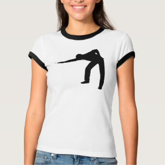 Pool Player Silhouette T-Shirt