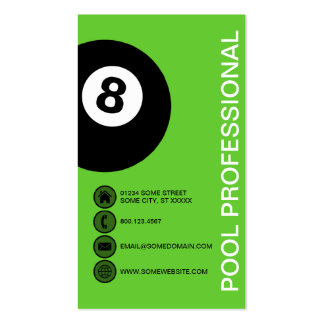 POOL PROFESSIONAL bubbles Business Card