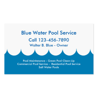 Pool Service Business Card