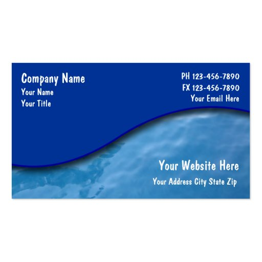 Pool Service Cards Business Card Templates