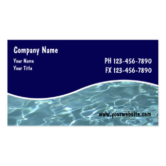 Pool Service Cards Pack Of Standard Business Cards