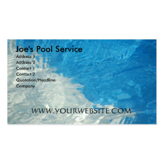 Pool Service Pack Of Standard Business Cards