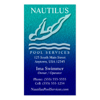 Pool Services Business Cards