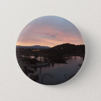 Pool Side Sunrise 2 Inch Round Button