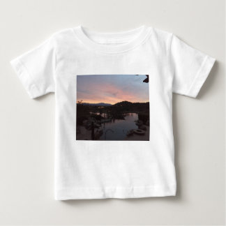 Pool Side Sunrise Baby T-Shirt