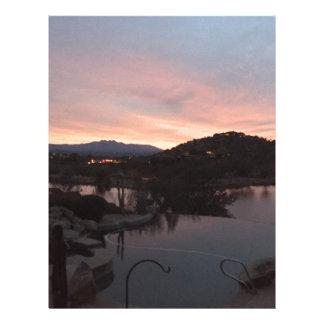 Pool Side Sunrise Letterhead