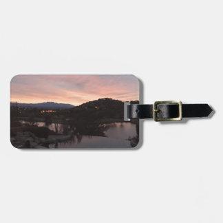 Pool Side Sunrise Luggage Tag