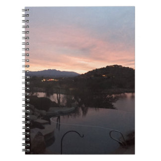 Pool Side Sunrise Notebook