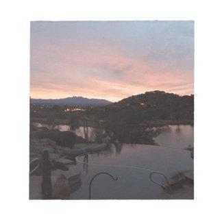 Pool Side Sunrise Notepad