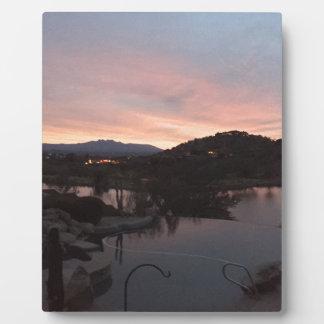 Pool Side Sunrise Plaque
