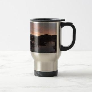 Pool Side Sunrise Travel Mug