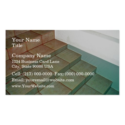 Pool Stairs Business Card Templates