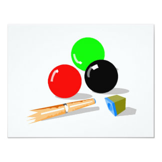 Pool Stick and Balls Card