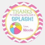 Pool Sticker / Pool Favor Tag / Pool Gift Tag