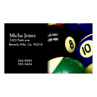 Pool Table Balls Grunge Style Business Card