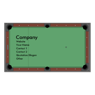 Pool Table Business Card Template