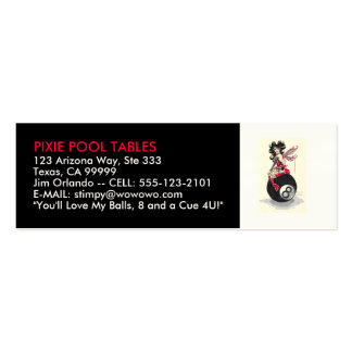 POOL TABLES & BILLIARDS - BUSINESS CARD TEMPLATE