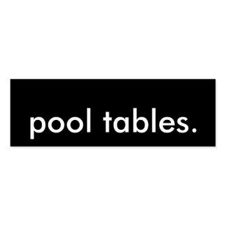 pool tables. mini business card