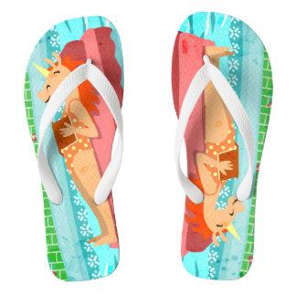 Pool Time Unicorn Flip Flops