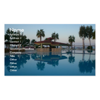 Pool View Business Card Template