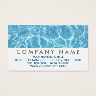 Pool Water Business Cards