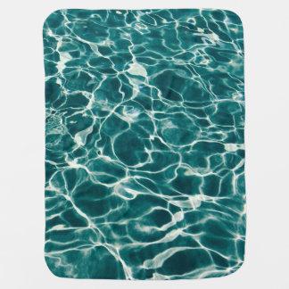 Pool water pattern baby blanket