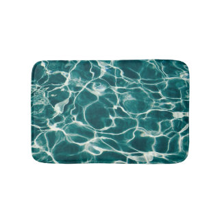 Pool water pattern bath mat