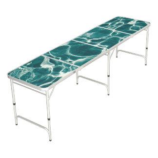Pool water pattern beer pong table