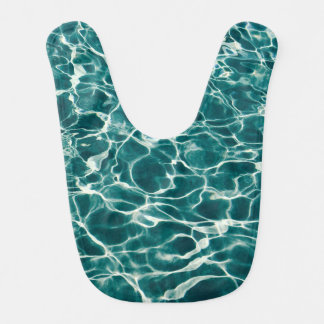 Pool water pattern bib
