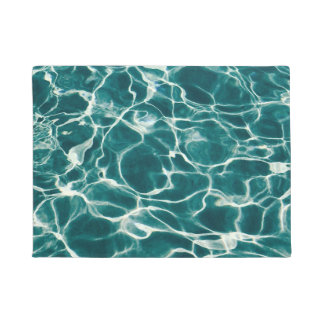 Pool water pattern doormat