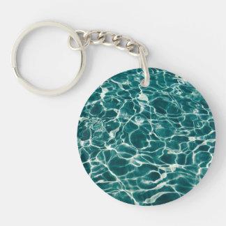 Pool water pattern keychain