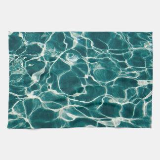 Pool water pattern kitchen towel