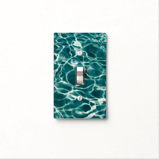 Pool water pattern light switch cover