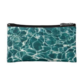 Pool water pattern makeup bag