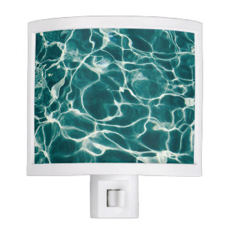 Pool water pattern night light