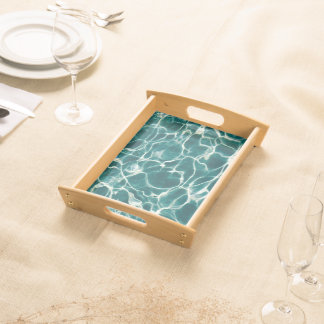 Pool water pattern serving tray