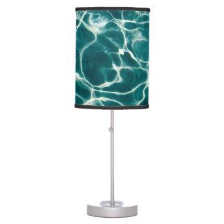Pool water pattern table lamp