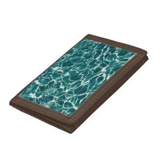 Pool water pattern tri-fold wallets
