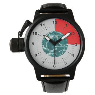 Pool water pattern wristwatch
