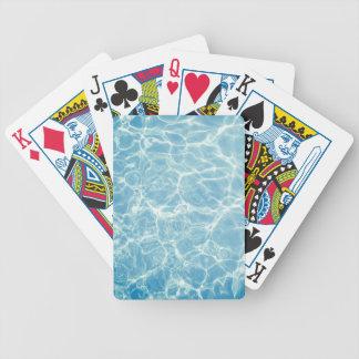 Pool Water, Pool, Swim, Summer Bicycle Playing Cards
