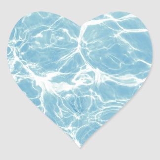 Pool Water, Pool, Swim, Summer Heart Sticker
