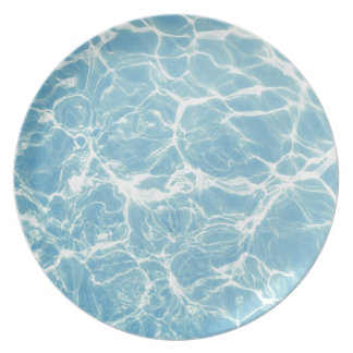 Pool Water, Pool, Swim, Summer Party Plates
