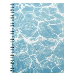 Pool Water, Pool, Swim, Summer Spiral Notebook