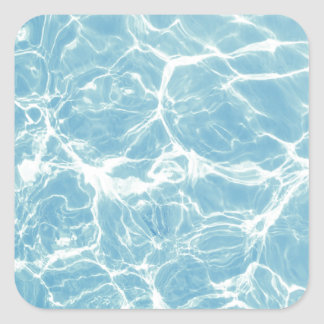 Pool Water, Pool, Swim, Summer Square Sticker