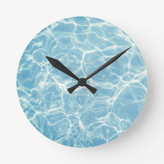 Pool Water, Pool, Swim, Summer Wall Clocks