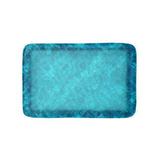 Pool Water with Border Bath Mat