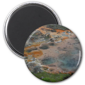 Pools Yellowstone Hydrothermal Colors Artists Pain Magnet