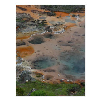 Pools Yellowstone Hydrothermal Colors Artists Pain Postcard