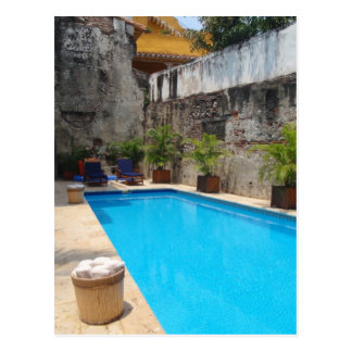 Poolside in Colombia Postcard